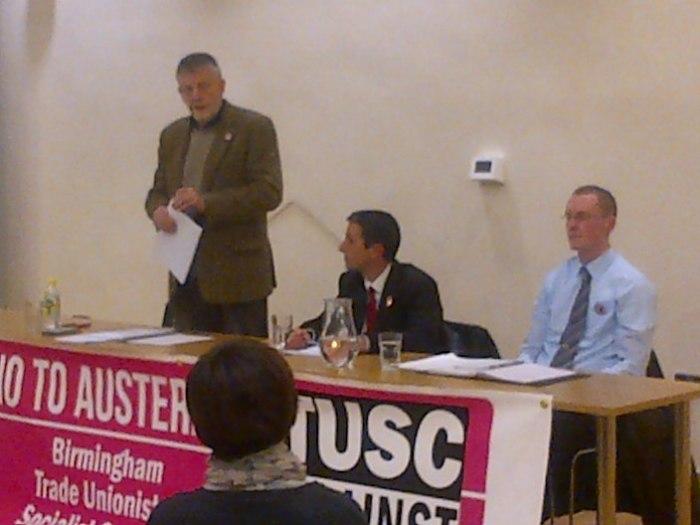 Dave Nellist (left), Eamonn Flynn (centre), Ted Woodley (right)