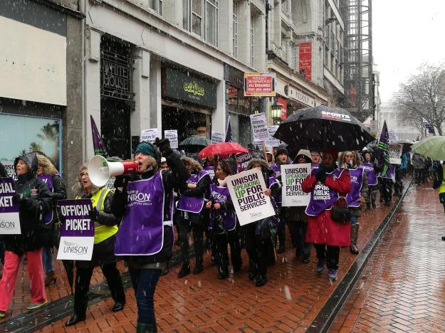 Homecare strike