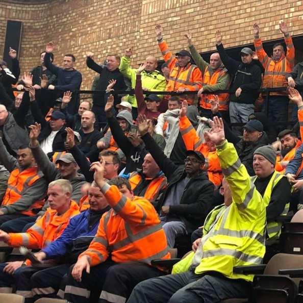 Bin Workers mass meeting